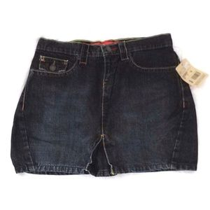 Mossimo Junior Denim Jean Skirt Indigo Short
